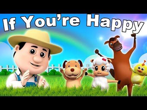 se você está feliz rima | compilação de canções infantis | coleta de rimas