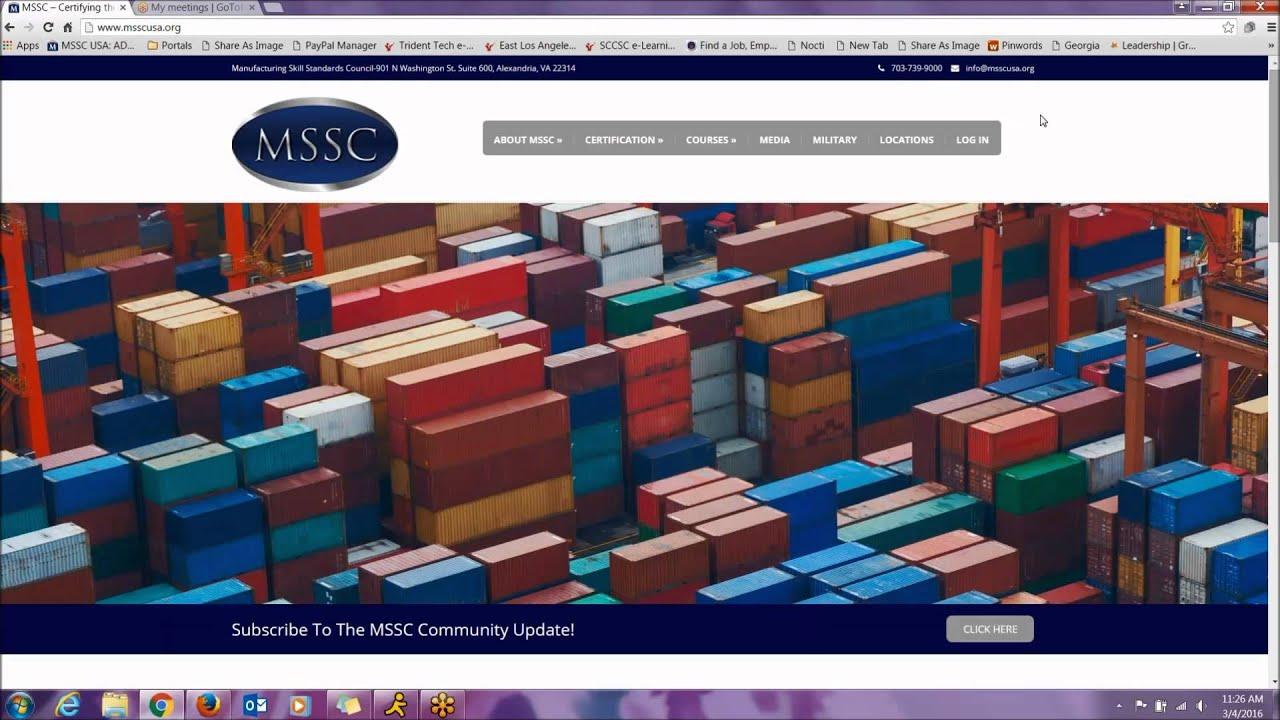New Mssc Website Youtube