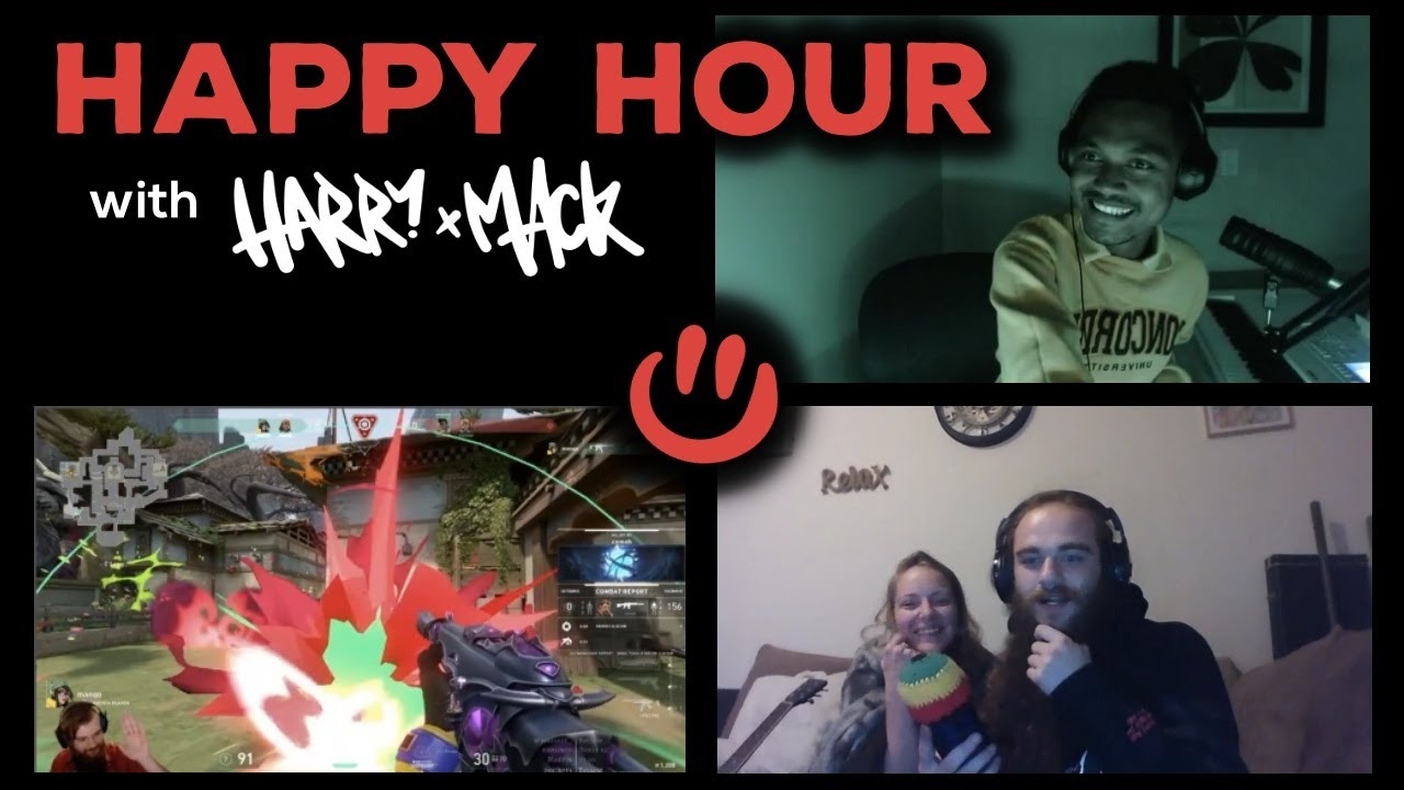 Harry Mack Freestyles Over a Beatboxer and Raps Video Game Commentary - Happy Hour Episode 2