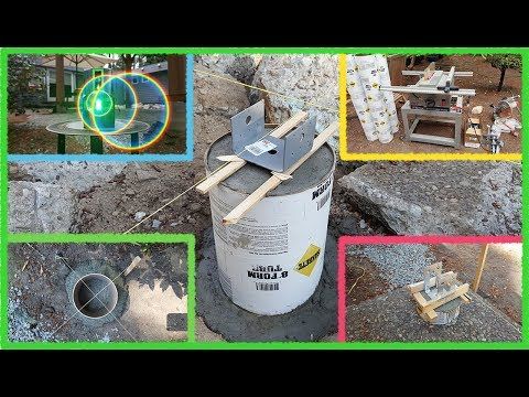How I Build The Deck. #1 Planning & Concrete Footings. Разметка и опоры террасы