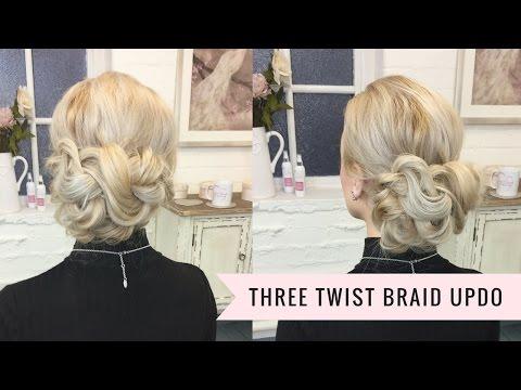 The Three Twist Braid Updo