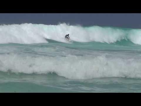 Surfing Seychellen, La Digue, Grande Anse, August 2017