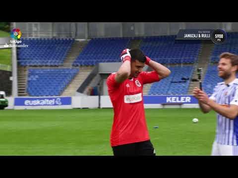 La Real Sociedad inaugura LaLiga Santander Free Kick Challenge de FIFA 18