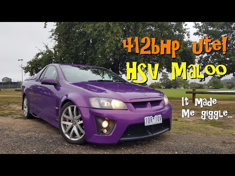 412bhp Ute! The HSV Maloo. It Made Me Giggle...