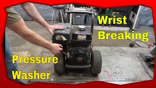 Pull start rips out of your Hand? lets Fix It. Busted Pressure Washer.