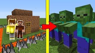 FAKİR'İN GÜVENLİ EVİNE ZOMBİ SALDIRISI! 😱 - Minecraft