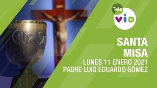 Misa de hoy ⛪ Lunes 11 de Enero de 2021, Padre Luis Eduardo Gómez – Tele VID