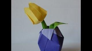 Origami Tulip (tulipan Origami)