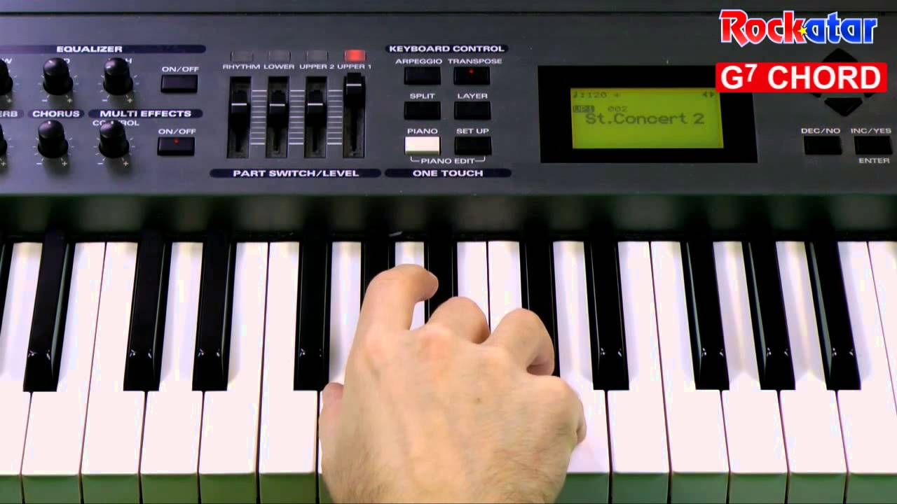 G7 chord on keyboard youtube g7 chord on keyboard hexwebz Image collections