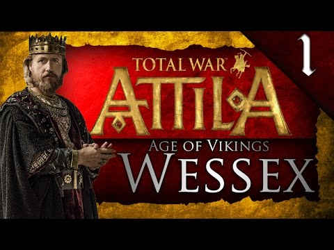 TOTAL WAR: ATTILA - AGE OF VIKINGS - KINGDOM OF WESSEX CAMPAIGN EP. 1 - KILLING HALFDAN!