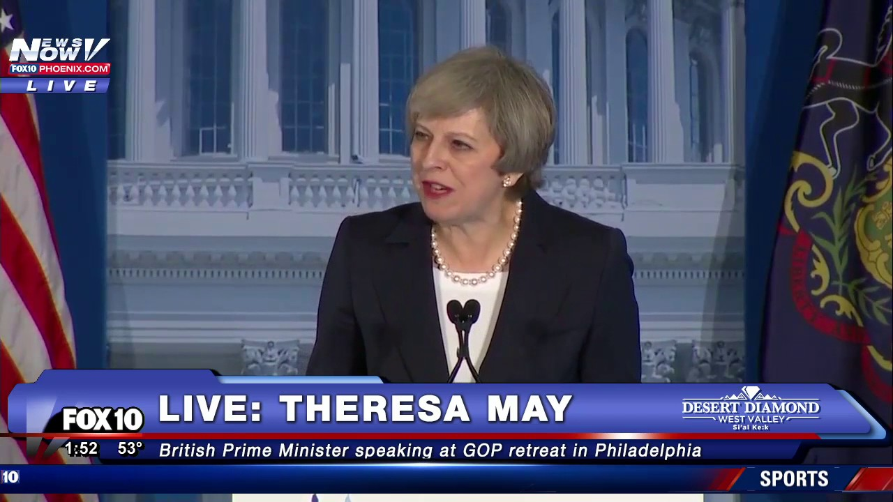 FNN: British Prime Minister Theresa May Speaking at GOP Retreat ...