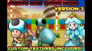 [Mario Kart Wii] Juice's Music Pack *VERSION 3* + PLATINUM PEACH AND CRAZY TOAD TEXTURES INCLUDED
