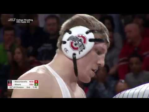 2018.02.18 #2 Ohio State Buckeyes at #6 NC State Wolfpack Wrestling
