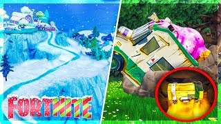 THE NEIGE ARRIVE OFFICIALLY AND OBTENIR THE SECRET CHEST OF DUSTY! Fortnite