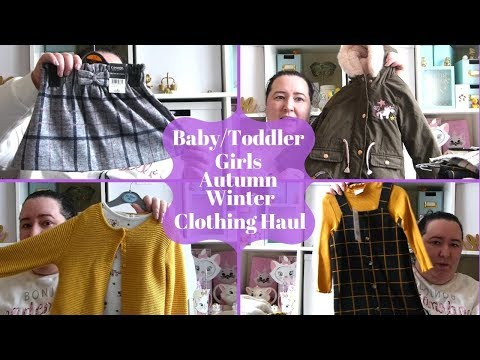 Baby / Toddler Girls Autumn Winter Clothing Haul - Primark, ASDA & Tesco