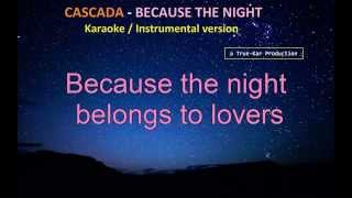 Cascada Because The Night Karaoke Instrumental HD