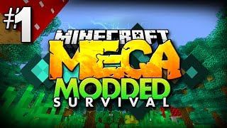Minecraft MEGA Modded Survival #1 | OVER 200+ MODS TO EXPLORE! - Minecraft Mod Pack