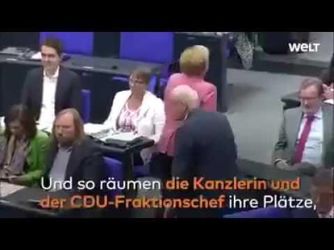 فيديو: رئيس البرلمان الألماني يطرد المستشارة ميركل من الجلسة!