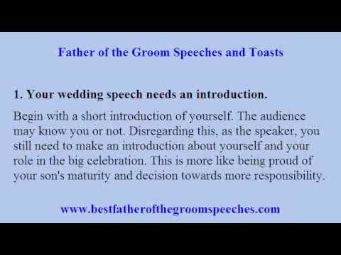 Father of Groom Speech - Compose Your Special Message in a Worry ...