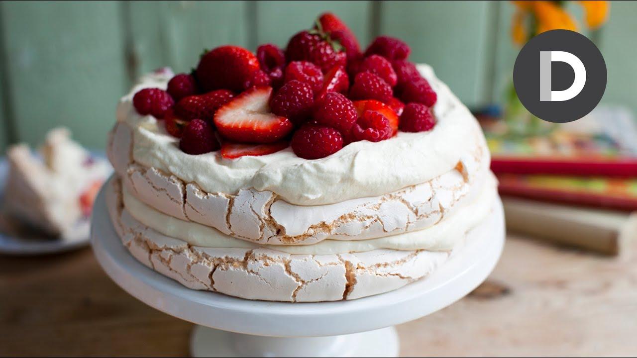 How to make... Strawberry Pavlova Cake! - YouTube