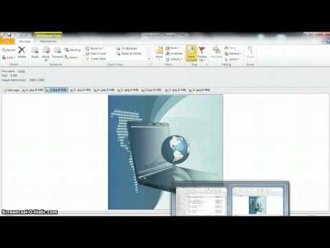 Download Outlook 2010: интерактивное меню ленты
