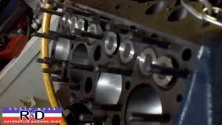 Ford Flathead V 8 on the Simtester @ Costa Mesa R&D Automotive Machine Shop