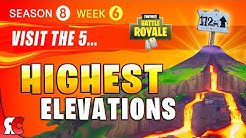 fortnite week 6 visit the 5 highest elevations all locations season 8 challenges duration 1 55 - visit the 5 highest elevations on the island fortnite season 8