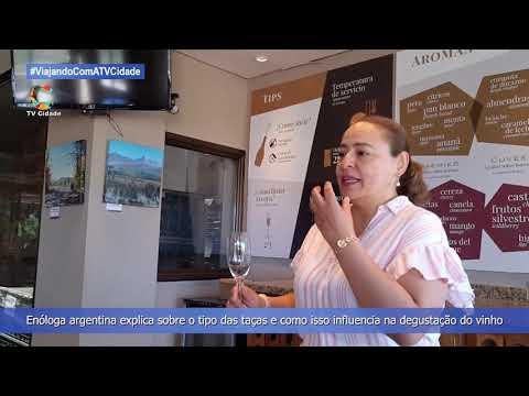 Enóloga argentina explica sobre o tipo das taças de vinho
