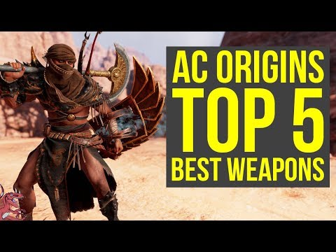 Assassin's Creed Origins Best Weapons TOP 5 - MOST AMAZING WEAPONS  (AC Origins Best Weapons)