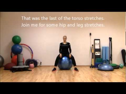 Stretching On Stability Ball   Workout I - seated - supported   Marina Aagaard, MFE