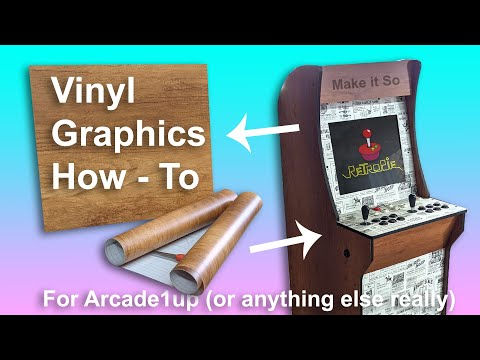 Vinyl Graphics How-To for Arcade1up or anything really from Make It So