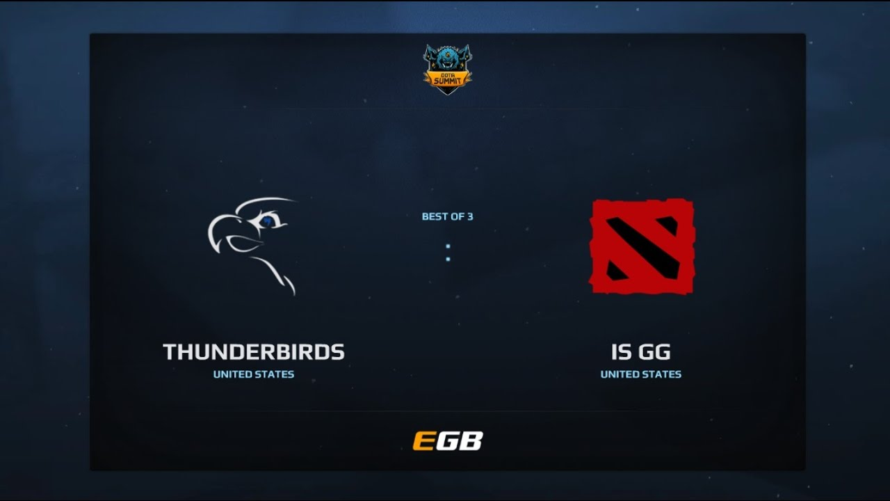 Thunderbirds vs is GG, Game 1, Dota Summit 7, AM Qualifier