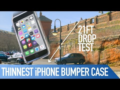 World's Thinnest iPhone Bumper Drop tests! Fusion Bumper Case | Review