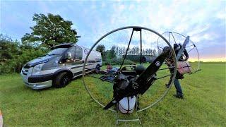 Insta 360 One X Paramotor Take off & landing UKParamotor.com