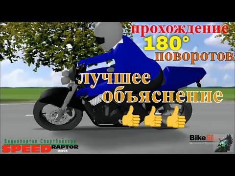 Как правильно проходить #поворот #Спортбайк / прохождение 180 градусных поворотов  #мотоцикл