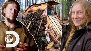 Contestants Rush To Build Shelter Before Temperatures Drop | 100 Days Wild