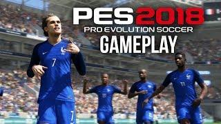 PES 2018 Gameplay - FRANCE VS BRAZIL (Pro Evolution Soccer 2018 Beta)