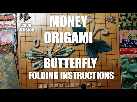 Origami Money Butterfly Instructions Youtube