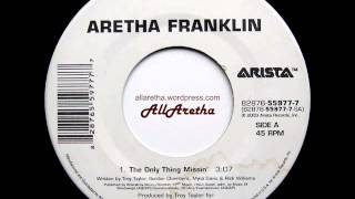 "Aretha Franklin - The Only Thing Missin' / Wonderful - 7"" - 2003"
