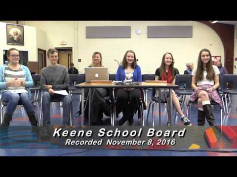 Keene NH School Board Public Meeting 11-08-16