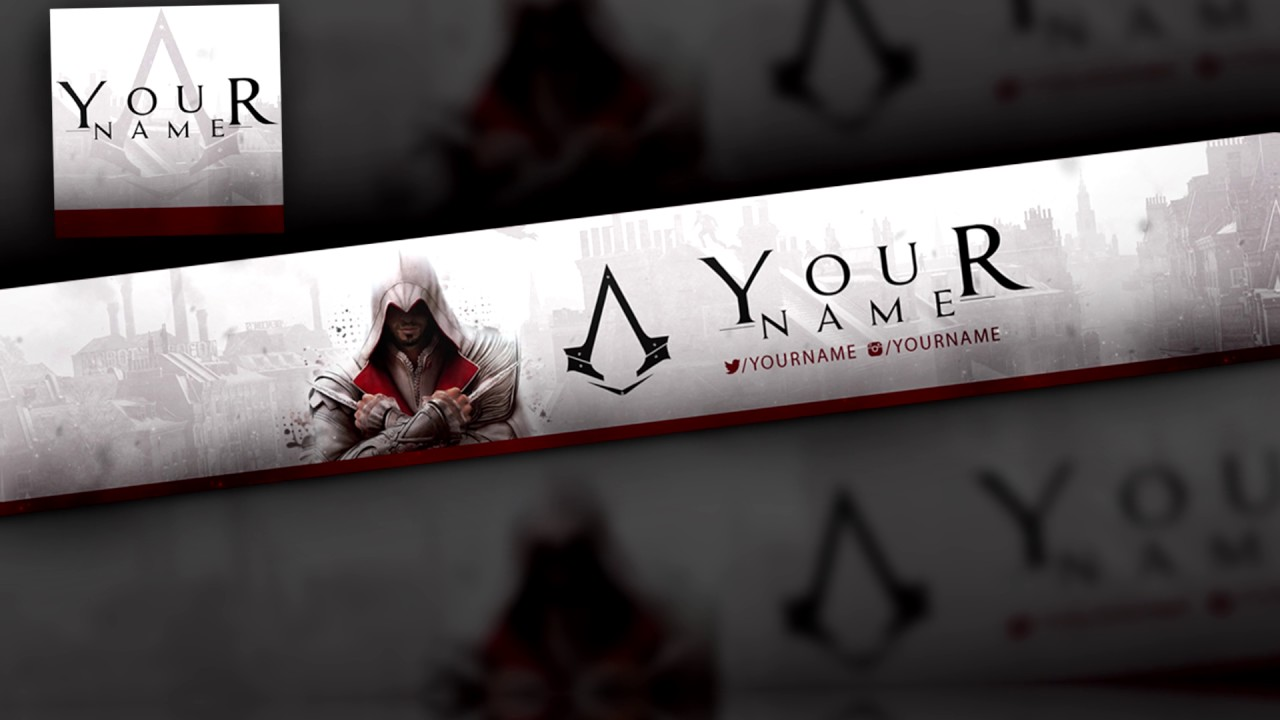 Assassins Creed Youtube Banner Avatar Template Free Download