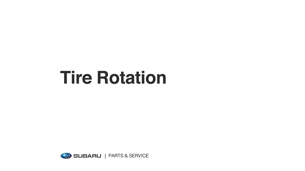 Subaru Legacy: Tire rotation
