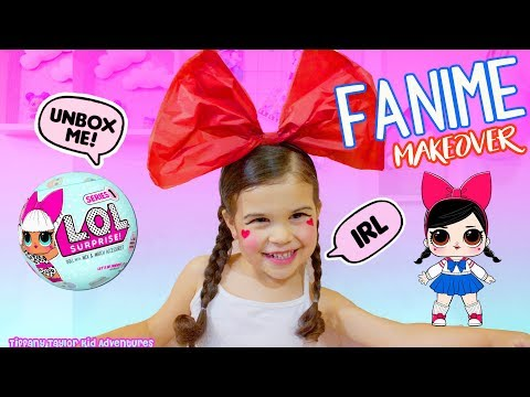 DIY How to Real Life L.O.L Surprise Doll Fanime Makeover & UNBOXING L.O.L Surprise Series 1 Ball!