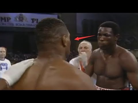 三次重量级拳王怒视泰森还怒推泰森,被泰森93秒重拳KO还不服气