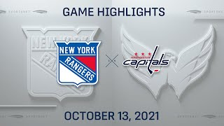 NHL Highlights   Rangers vs. Capitals - Oct. 13, 2021