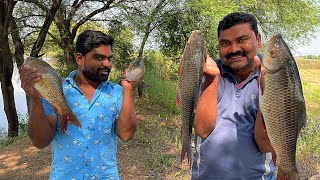 Village style fish soup & Fish fry | Anji maama tho Daawath | village cooking episode -2 | 4k