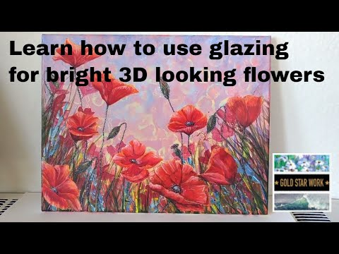 How to Paint a Glowing Red Poppy in Acrylic