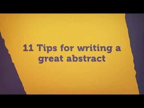 11 tips for writing an effective abstract