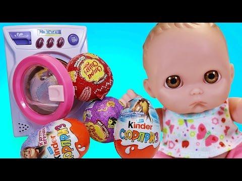 Пупсики Открывают Сюрпризы Барбоскины Робокар Полли Эмбер Смешарики Волшебная Стиралка Зырики Куклы