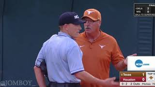 Home plate umpire goes completely brainless in this Texas vs Houston softball game, a breakdown